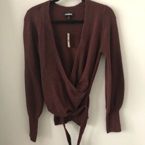 Express sweater with tie new with tags